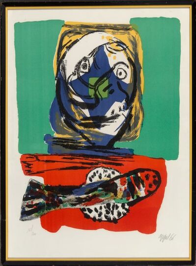 Karel Appel, 'Head and Fish', 1966