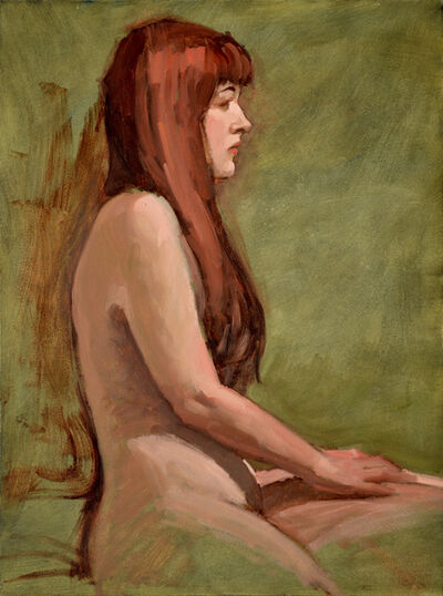 "Paul Schulenburg, '""Red Haired Woman in Profile""', 2019"