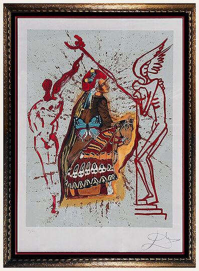 Salvador Dalí, 'Salvador Dali Original Lithograph Authentic HAND SIGNED Surreal Art Tarot Card', 1970-1989
