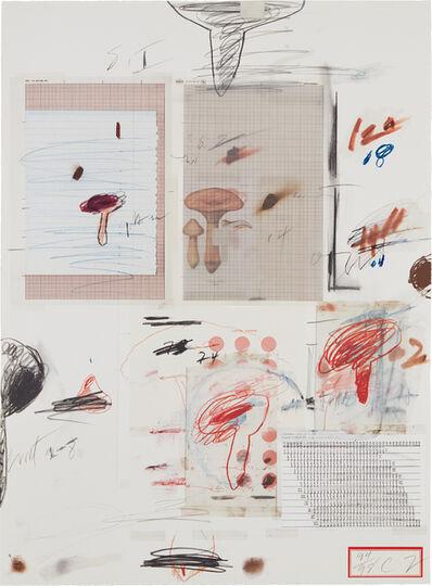 Cy Twombly, 'Natural History Part I Mushrooms: No. IV', 1974