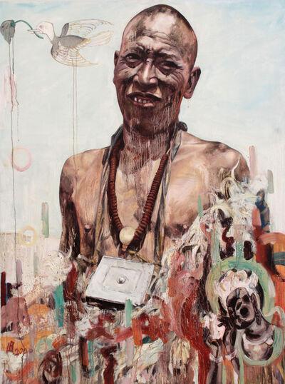 Hung Liu, 'Tibetan Man', 2000