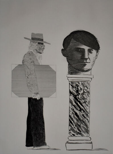 David Hockney, 'The Student, Homage to Picasso', 1973
