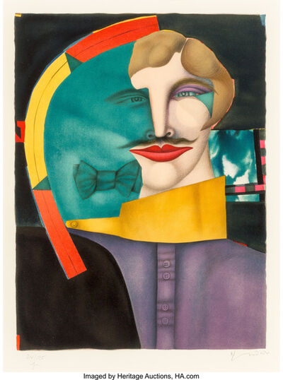 Richard Lindner, 'Untitled (Man with Bow Tie), from', 1975