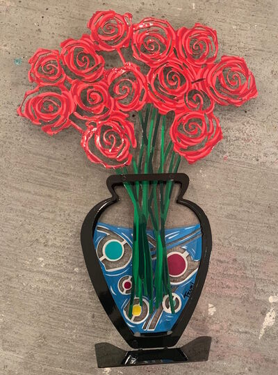 Shay Peled (Tzuki Studio), 'Rose vase - Red', 2018