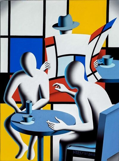 Mark Kostabi, 'Off The Grid ', 2018