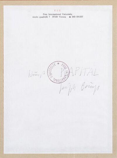 Joseph Beuys, 'F.I.U'