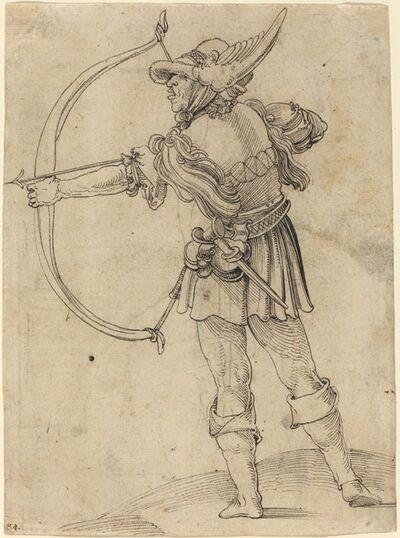 Hans Schäufelein the Elder, 'Archer Drawing His Bow', ca. 1510