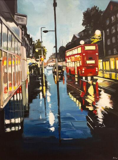 Angela Wakefield, 'London Bus in the Rain', 2013