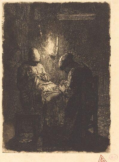 Jean-François Millet, 'Evening (La viellee)', 1856