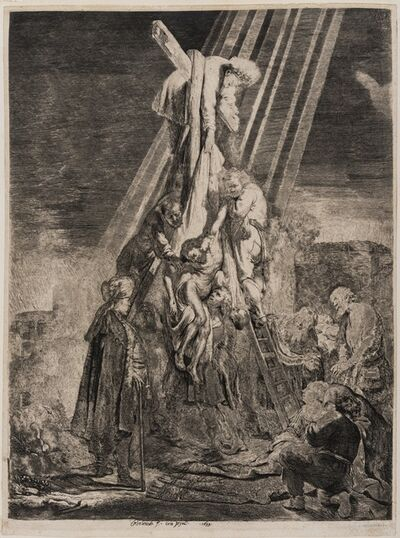 Rembrandt van Rijn, 'The Descent from the Cross: Second Plate'