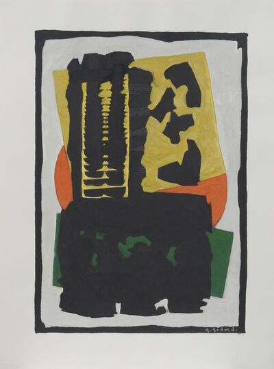 Gabriel Godard, 'Composition in yellow, deep orange, green and black', 2007