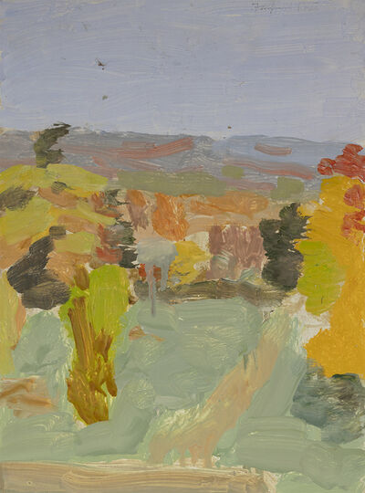 Fairfield Porter, 'Untitled [View of Pelham Hills from Artist's Studio in Fayerweather Hall, Amherst College]', 1969
