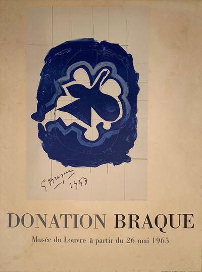 Georges Braque, 'Donation Braque, Musee du Louvre, a partir du 26 mai 1965, HOLIDAY SALE $150 OFF THRU MAKE OFFER', 1965