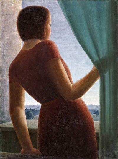 Georg Gerhard Schrimpf, 'Mädchen am Fenster', 1935