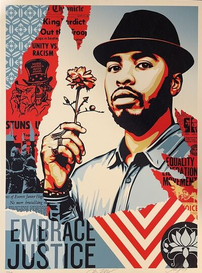 Shepard Fairey, 'Embrace Justice Shepard Fairey Print Black Lives Matter Signed Numbered Pop Art', 2017