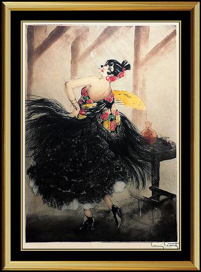 Louis Icart, 'Louis Icart Authentic ETCHING Original Hand Signed Deco Artwork Carmen Portrait', 1927