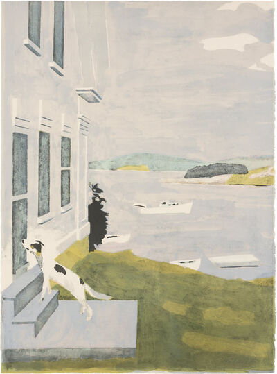 Fairfield Porter, 'THE DOG AT THE DOOR (LUDMAN 19)', 1971