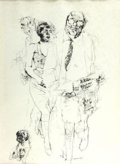 Renzo Vespignani, 'Sidewalk of Rome', 1959