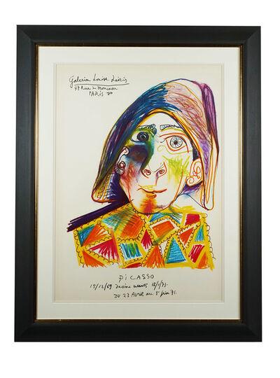 Pablo Picasso, 'Harlequin, Galerie Louise Leiris', 1971
