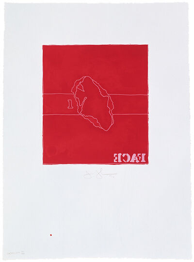 Jasper Johns, 'Face', 1974