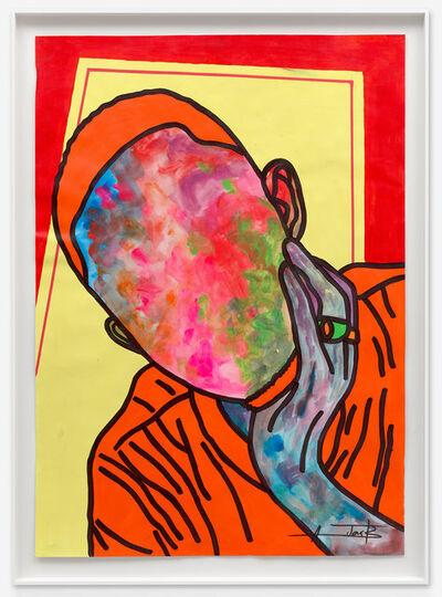 Ajarb Bernard Ategwa, 'my handsome face', 2020