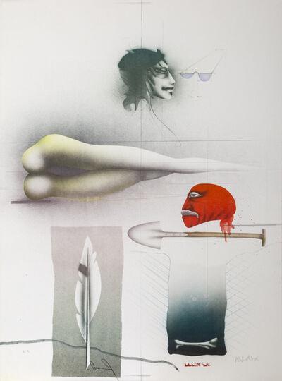 Paul Wunderlich, 'Skizzenblatt mit Rotem Kopf', 1979