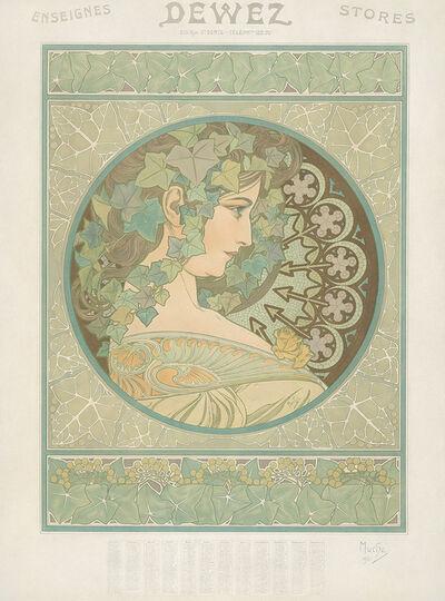 Alphonse Mucha, 'Ivy / Dewez.', 1908