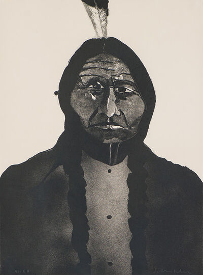 Fritz Scholder, 'Portrait of an American #2', 1973
