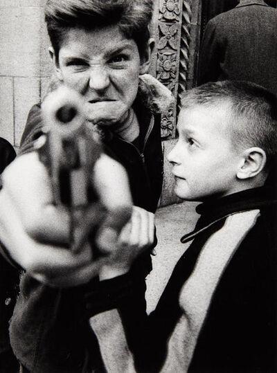 William Klein, 'Gun 1, Broadway, New York', 1955