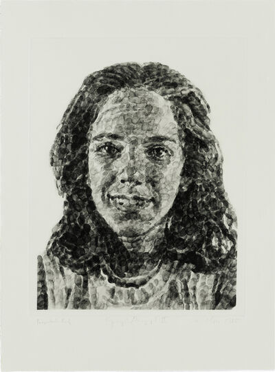 Chuck Close, 'Georgia/Fingerprint II', 1984-1985