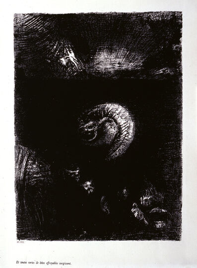 "Odilon Redon, '""And all manner of rightful creatures arise.""', 1888"