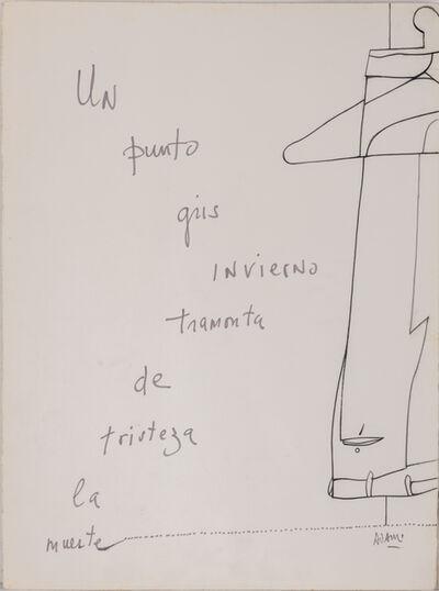 Valerio Adami, 'Un Punto Gris Invierno Tramonta De Tristeza La Muerte'