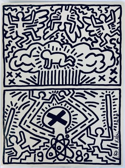 Keith Haring, 'Poster for nuclear disarmamant', 1982
