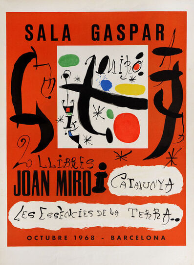 Joan Miró, 'Sala Gaspar 1968', 1968