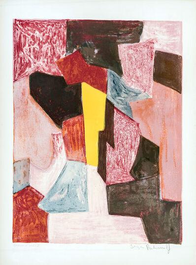Serge Poliakoff, 'Composition rouge, carmin et jaune', 1958