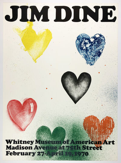 Jim Dine, 'Whitney Museum 1970 (Six Hearts 1970) ', 1970