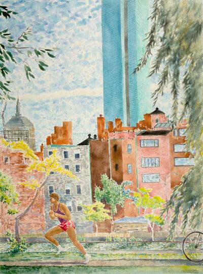 Paul Tatsumi Nagano, 'Late September Esplanade Runner', 1988