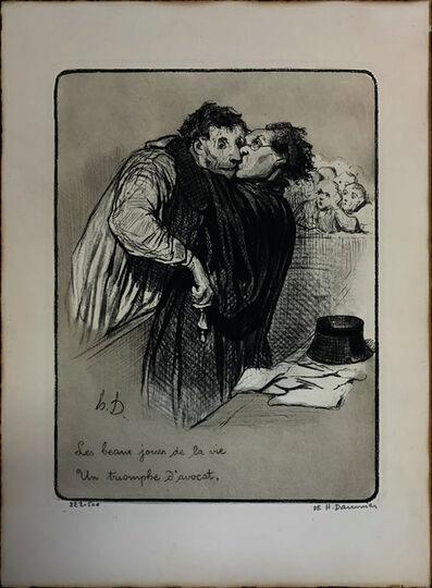 Honoré Daumier, 'Un Triomphe d'Avocat', 1845