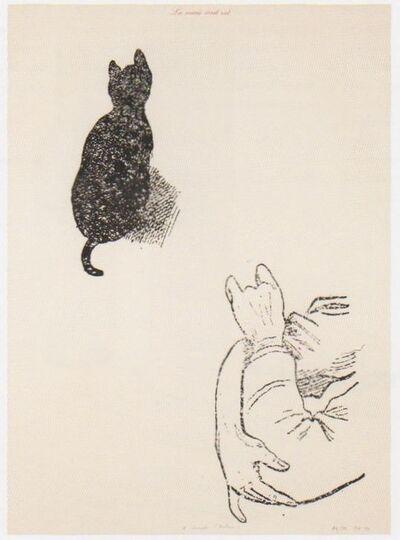Marcel Broodthaers, 'La Souris écrit rat (A Compte d'auteur)', 1974