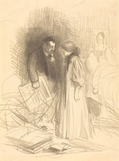 """Jean-Louis Forain, '""""I don't dare take them down...it would hurt him too much.""""', ca. 1892"""