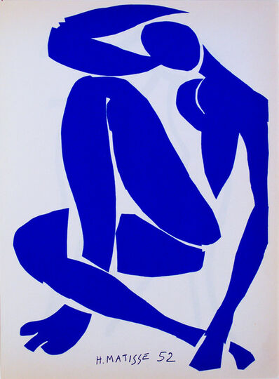Henri Matisse, 'Femme bleue assis 4', 1952