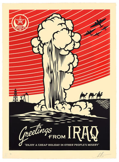Shepard Fairey, 'Greetings From Iraq, HPM ', 2019