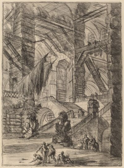 Giovanni Battista Piranesi, 'The Staircase with Trophies', published 1749/1750