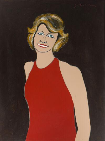 Fritz Scholder, 'Marilyn Butler portrait', 1974