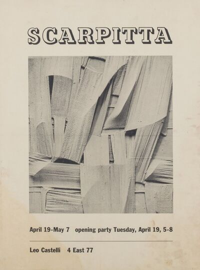 Salvatore Scarpitta, 'Solo exhibition', 1960