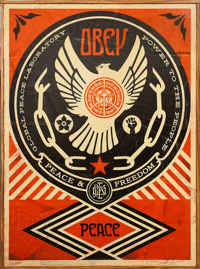 Shepard Fairey, 'Peace and Freedom Dove', 2014