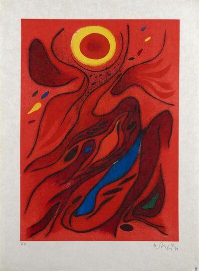 Gustave Singier, ' Le Soleil Rouge', 1971