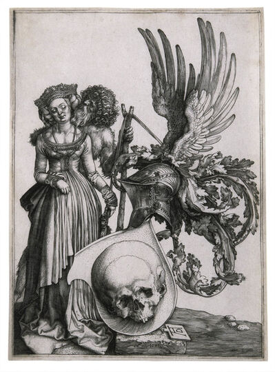 Albrecht Dürer, 'Coat of Arms with a Skull', 1503