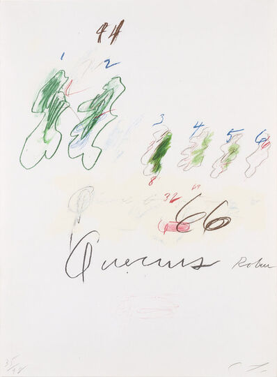 Cy Twombly, 'Quercus Robur (B. 54)', 1975-76
