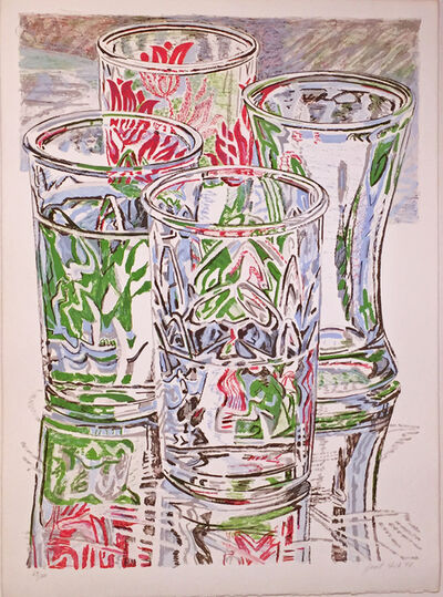 Janet Fish, 'FOUR GLASSES', 1976